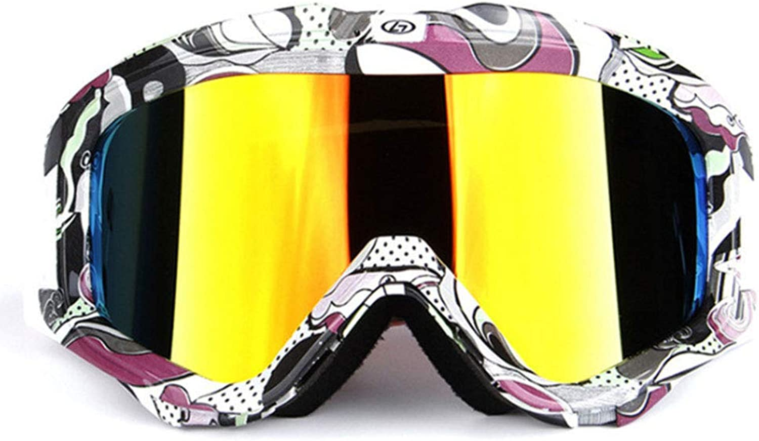 Ski Goggles100% UV Predection, Adult DoubleLayer AntiFog Men and Women Large Spherical ski Glasses Equipment Suitable for Outdoor Skiing,G