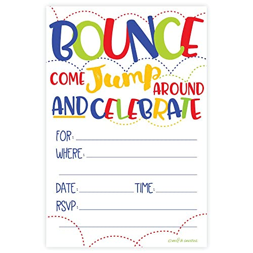 Bounce House Or Jumping Party Invitations 20 Count With Envelopes