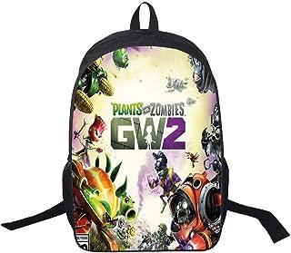 AUGYUESS Game Plants vs. Zombies Backpack School Bag Daypack Bookbag Shoulder Bag