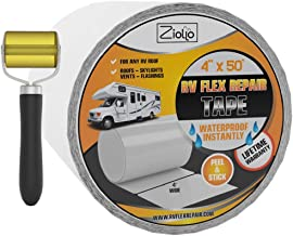 RV Flex Repair Tape, White, 4 in by 50 Ft, Roller