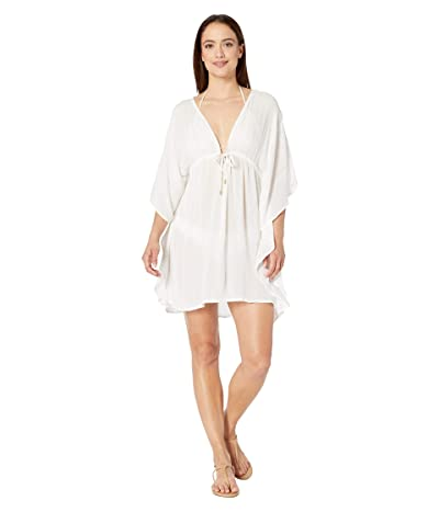 Bleu Rod Beattie Passage To India Caftan Cover-Up (White/Gold) Women