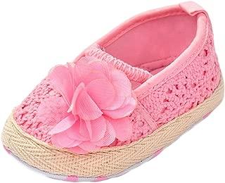 ESTAMICO Infant Girls' Shoes Floral Net Yarn Ballerina Shoes