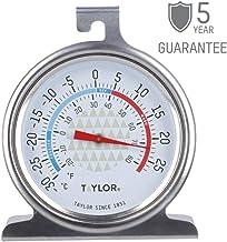 Taylor TYFRIDGESS Freezer/Fridge Temperature Thermometer, Stainless Steel