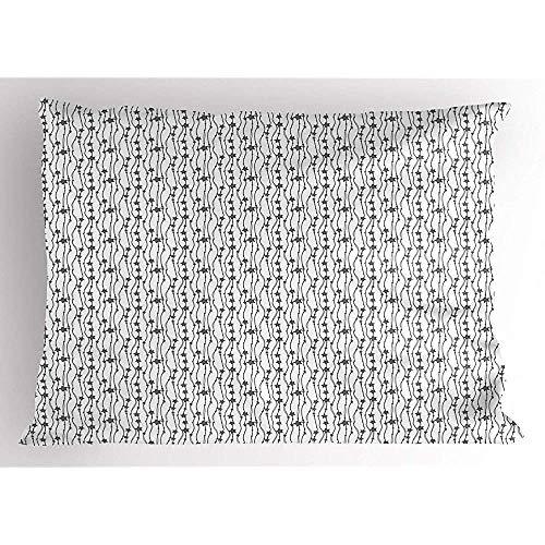 4 Stück 18X18 Zoll Abstract Pillow Sham,Vertikal Hängende Saiten Mit Gestreiften Christbaumschmuck Sternen,Home Decor Standardgröße Gedruckt Kissenbezug