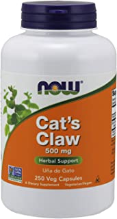 NOW Supplements, Cat's Claw 500 mg, Non-GMO Project Verified, Herbal Supplement, 250 Veg Capsules