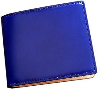 コードバン(馬尻革)×本ヌメ革財布(BOX型小銭入付二つ折財布)