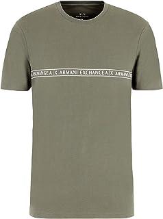 A|X Armani Exchange Men's Crew Neck Short Sleeve T-Shirt with Logo Stripe