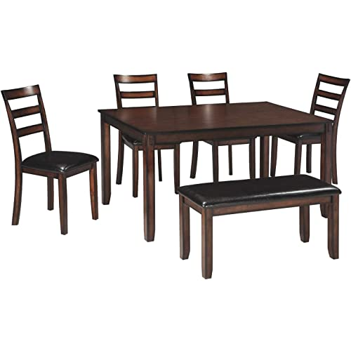 290d0be1f155 Ashley Furniture Signature Design - Coviar Dining Room Table and Chairs  with Bench (Set of