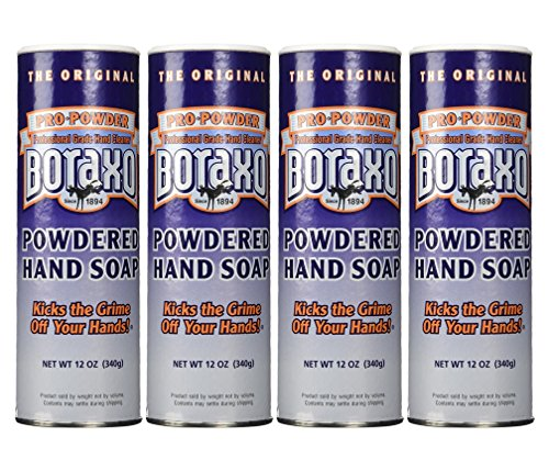 Boraxo Powdered Hand Soap, 12 Oz, Pack of 4