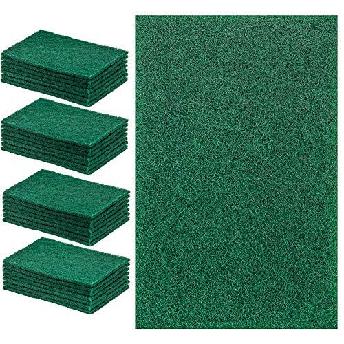 A1SONIC - Set di 10 spugne abrasive per cucina, stoviglie, bagno, casa, grande e resistente, antigraffio, spugnetta abrasiva, colore: verde (confezione da 10)