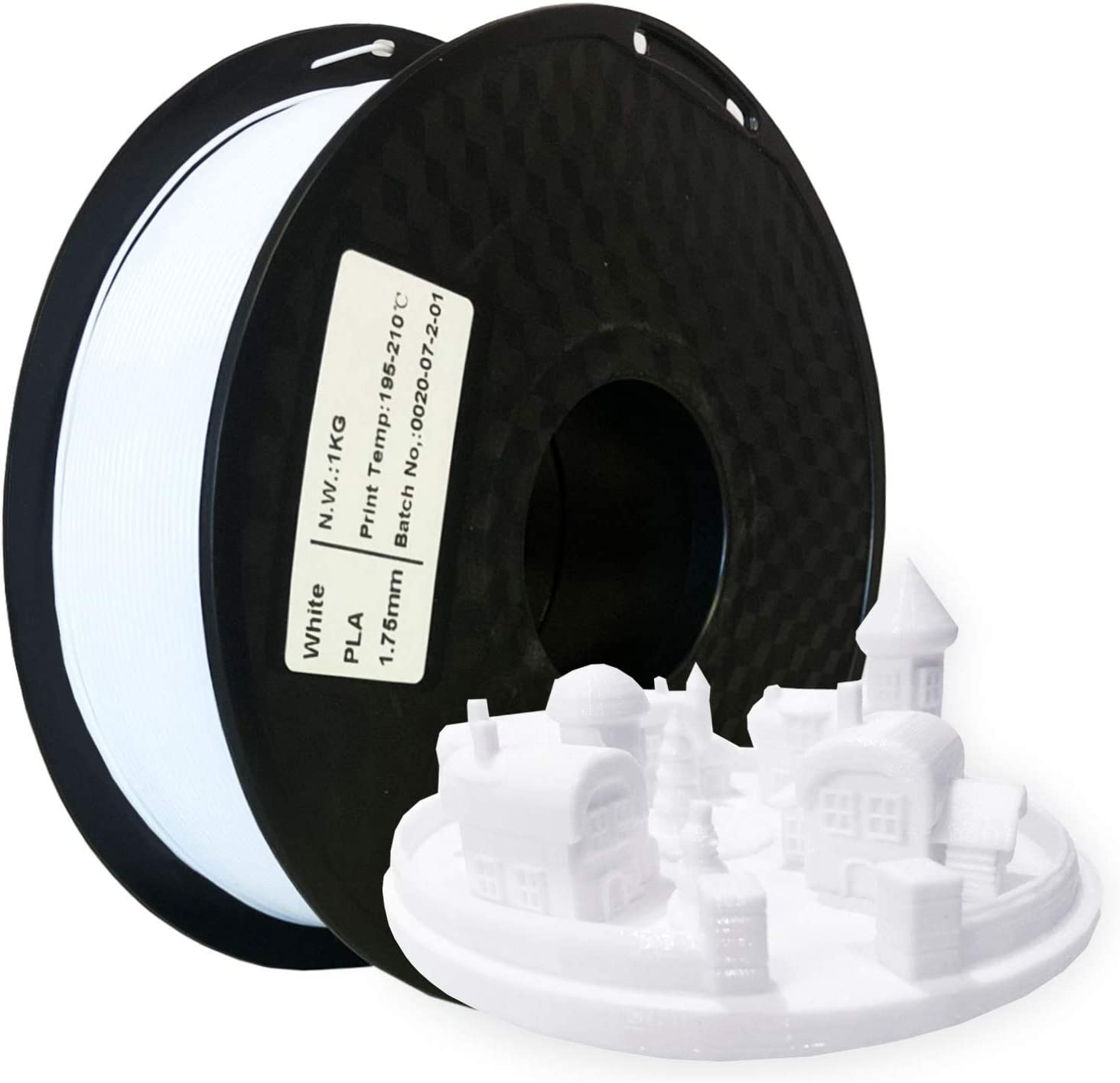 SUPPLY3D PLA 1KG 1.75 White PLA 3D Print Filament, Dimensional Accuracy +/- 0.05 MM, 1 KG Spool, 1.75 MM, White