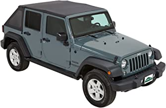 Pavement Ends by Bestop 56845-35 Black Diamond Frameless Sprint Top for 2007-2009 Jeep Wrangler Unlimited