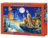 Castorland Howling Wolves 1000 pcs Puzzle - Rompecabezas (Puzzle Rompecabezas, Fauna, Niños y...