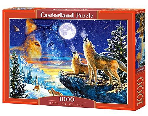 Castorland C-103317-2 - Aullando Wolves, Puzzle 1000 Piezas