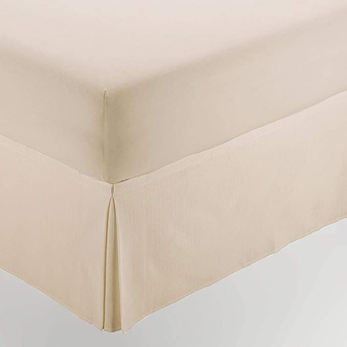 ESTELA - Cubrecanapé Hilo Tintado RÚSTICO Color Crema - Cama de 200 - Alto 35 cm - Tipo Colcha - 50% algodón / 50% poliéster - Medidas: 200 x 190/200 ...