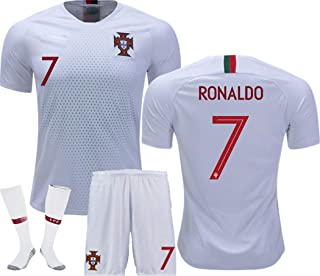 LISIMKE Soccer Team 2018/19 Portugal Away Soccer C Ronaldo 7 Mens Replica&Shorts Kid Youth Replica Jersey Kit