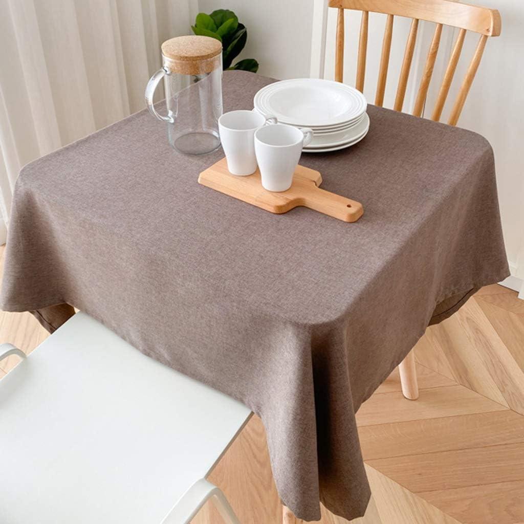 Mantel de Mesa Sencillo y moderno color sólido Mantel, Plaza Home pequeña mesa cuadrada, varios colores opcionales, adecuados for uso en el hogar Manteles (Color : C, Size : L)