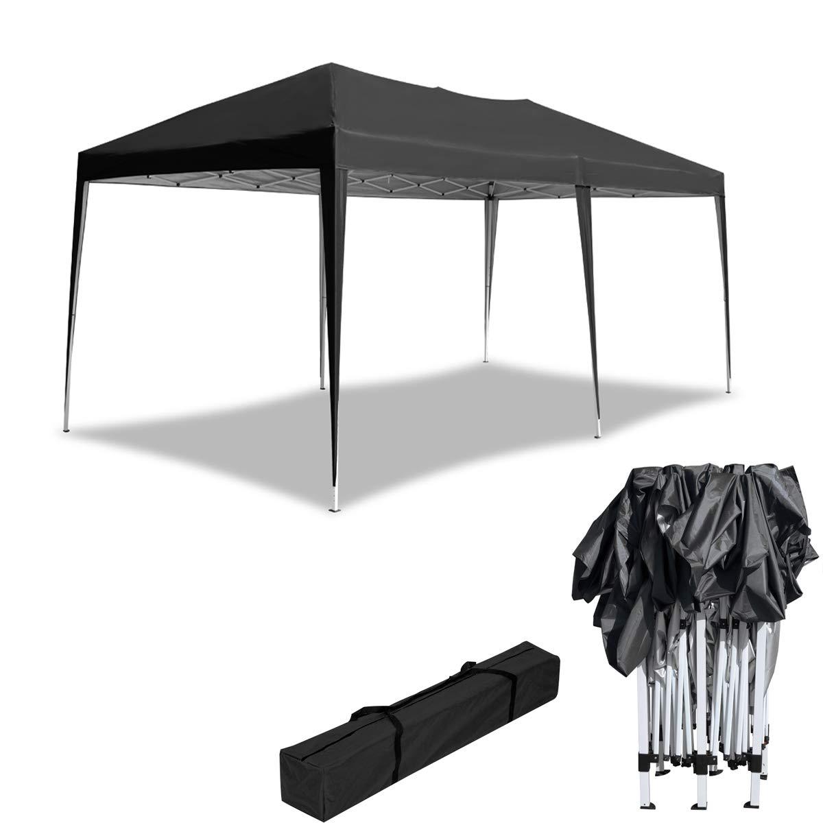 HENGMEI 3x6m Cenador Plegable para jardín Carpa pabellón Tienda sin Paredes Laterales para Eventos y Fiestas, Antracita: Amazon.es: Jardín