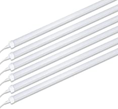 (Pack of 6) Barrina 8ft Led Tube Light Fixture, 44w, 4500lm, 6500K (Super Bright White) for Garage, Shop, Warehouse, Corded Electric with Built-in ON/Off Switch