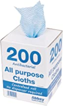 Abbey CNT04499 Antibacterial Cloths on a Roll, 220 x 370 mm, Blue (Pack of 200)
