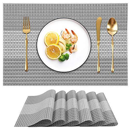 Candumy - Manteles individuales para mesa de cocina, juego de 4 u 8, antimanchas, antideslizantes