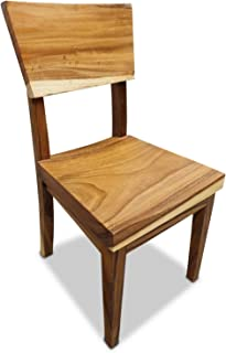 Silla de comedor de Suar, muebles de madera de acacia maciza, madera maciza natural para comedor o cocina