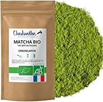 Chabiothé Matcha Dégustation Bio 100g - Origine Japon et sachet biodégradable - conditionné en France - thé vert Matcha...
