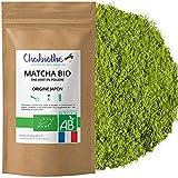 Chabiothé Matcha Dégustation Bio 100g - Origine Japon et sachet biodégradable - conditionné en France - thé vert Matcha en poudre