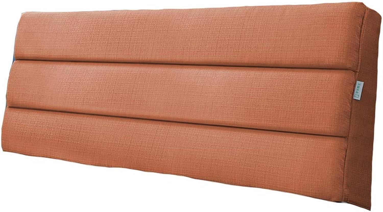 Coussin De Chevet Grand Dossier - Oreiller De Lit Lit Double Dossier, Amovible   4 Couleurs   9 Tailles Disponibles CONGMING (Couleur   Orange, taille   120  50  5cm)