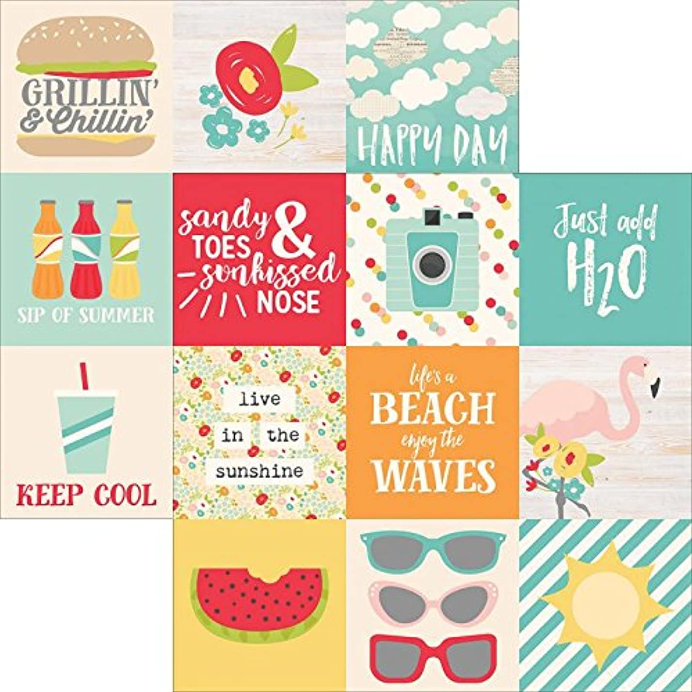 Simple Stories Summer Days 4x4 Horizontal Elements rp08477109
