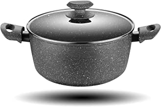 Cooking Pots Pans Soup pot Casserole Stew Maifan stone 24cm non-stick double ears steaming cooker hot pot household Induct...
