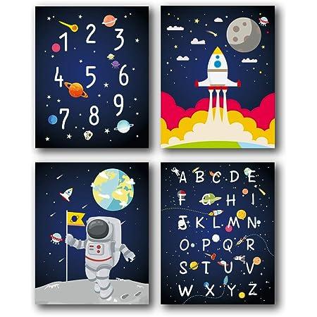 Astronaut watercolor painting astronomy poster original artwork print nursery bedtime playroom printable wall art bedroom space