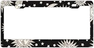 Native American Leather Design License Plate Frames Stainless Steel Car Licence Plate Covers Slim Design for US Standard