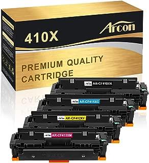 Arcon Compatible Toner Cartridge Replacement for HP 410X CF410X CF411X CF412X CF413X 410A CF410A M477fdw HP Color Laserjet Pro MFP M477fdw M477fnw M477fdn M452dn M452dw M452nw M452 M477 M377dw Printer