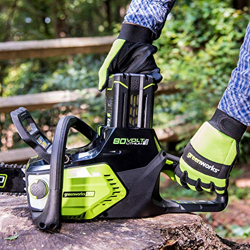 Greenworks Pro 80V 16 inch Brushless Chainsaw with 2Ah Battery and Charger Included, CS80L211