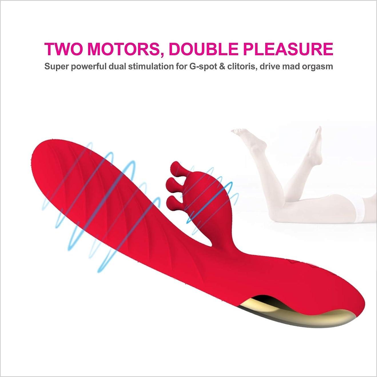 統計冒険気楽なZyuantyuan 安全なシリカゲルIPX65グレード防水レディース製品Gポイント振動ロッド女性シミュレーションウサギマッサージAVスティックローズレッド、パープルはオプションのTシャツバイブレーター Friction attrition