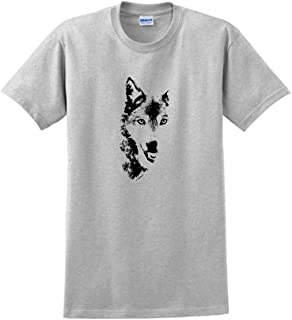 Wolf Face Shadow Sketch Wolves T-Shirt
