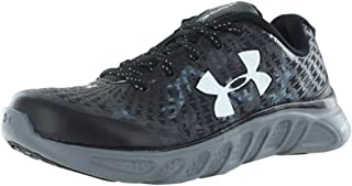 Under Armour Spine Clutch Running Shoes for Boys, Black/Graphite/White
