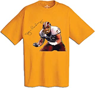 AP SPORTS Apparel Jim Lachey T-Shirt Imprinted with Autograph and Action Illustration (600-Shirt Wholesale Pack)