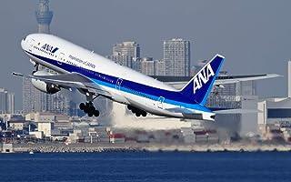 絵画風 壁紙ポスター (はがせるシール式) ANA ボーイング 777-300 (773A) 2005年運用開始 全日空 BOEING キャラクロ B777-006W2 (ワイド版 603mm×376mm) 建築用壁紙+耐候性塗料
