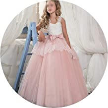 Fancy Flower Long Prom Gowns Teenagers Dresses for Girl Children Party Kids Evening Formal Dress for Bridesmaid Wedding