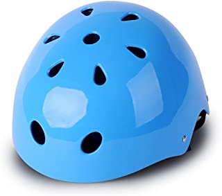 Cute Light-weight Bicycle Cycling Street Kids Safety Bike Helmets Protective Gear for Toddler Child Children Outdoor Sports Safety Firm Kids Helmet for Boys Girls Student Pupil Age 3-5 6-8 (Blue)
