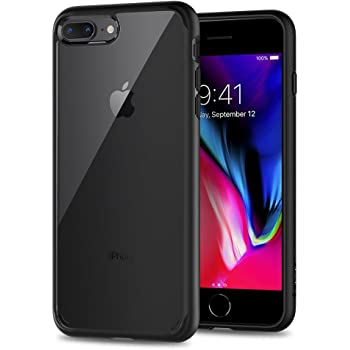 Spigen Ultra Hybrid [2nd Generation] Designed for Apple iPhone 8 Plus Case (2017) / Designed for iPhone 7 Plus Case (2016) - Black
