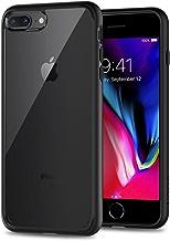 Spigen Coque iPhone 8 Plus, Coque iPhone 7 Plus [Ultra Hybrid 2e Génération] Noir, AIR CUSION Bumper Renforcé en TPU, Dos Transparent en PC, Protection Coin, Compatible avec iPhone 8 Plus / 7 Plus