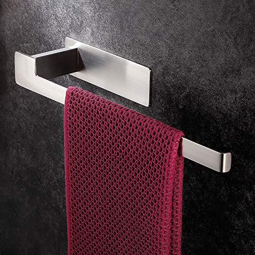 YIGII Handtuchhalter Ohne Bohren Handtuchstange EdelstahlGebürstet Badetuchhalter Selbstklebend