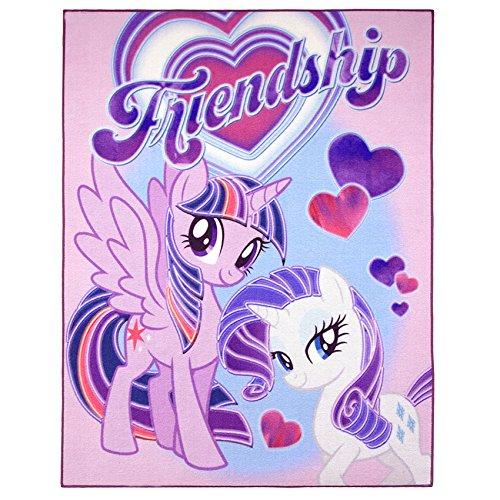 My little Pony Teppich 95cm x 125cm für das Kinderzimmer - Kinderteppich Friendship mit Rarity und Twilight Sparkle von My Little Pony