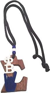 Phi Beta Sigma #W-MED Wood Greek Symbol Medallion 16 Inch Long Tiki Necklace Sigma