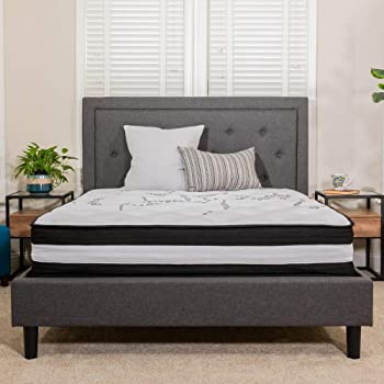 Flash Furniture Capri Comfortable Sleep 12 Inch CertiPUR-US Certified Foam and Pocket Spring Mattress, Queen Mattress in a Box