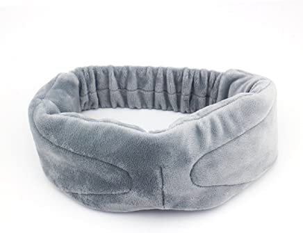 Megadream Soft Velvet Wearable Travel Sleep Eye Mask with Wireless Bluetooth Stereo Music Player Headset Support Handsfree & Mic for Home Use / Work Breaks / Business Out / Outdoor Camping (Grey)