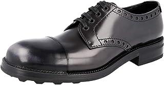 Prada Men's 2EG217 Full Brogue Leather Lace-up Shoes
